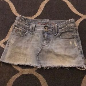 A and F Jean Skirt